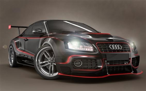 Wallpaper Audi black tuning cars
