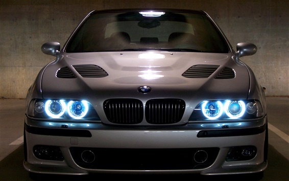 Fondos de pantalla BMW M5 E39 azul ojos del ángel