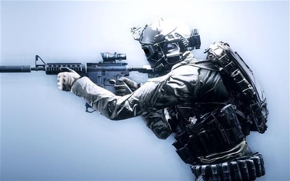 Fondos de pantalla Battlefield 4, soldados, armas