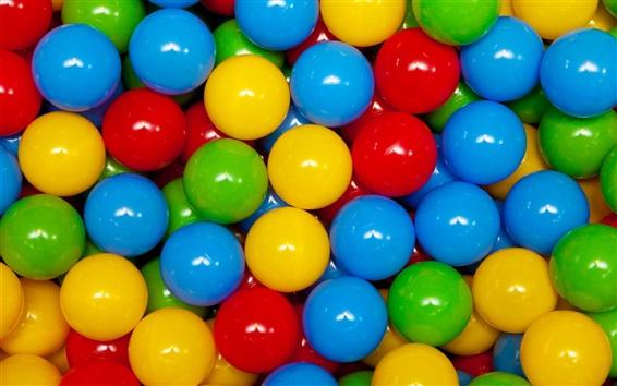 Fond d'écran balles de jeu colorées
