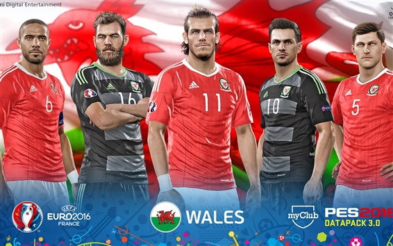 Wallpaper EURO 2016 Wales, PES 2016 game