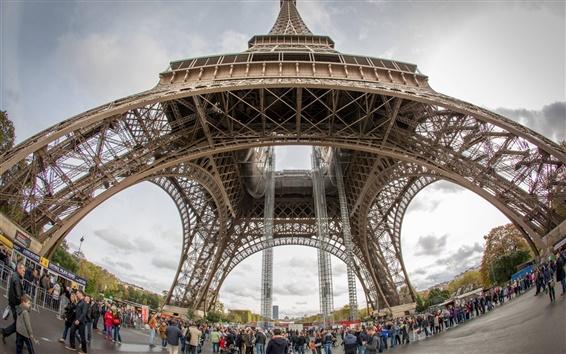 Fond d'écran EURO 2016 voyage de football, Paris, Tour Eiffel, France