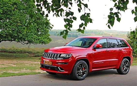 Обои Jeep Grand Cherokee SUV красный