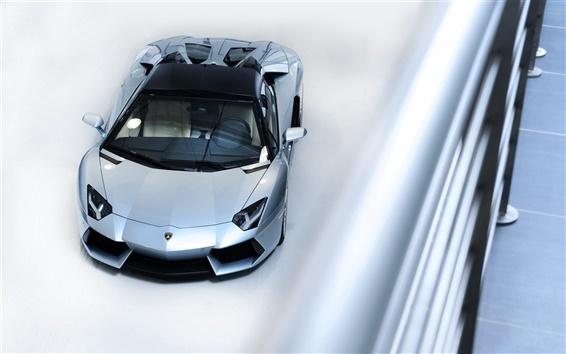 Fond d'écran supercar Lamborghini vue de dessus