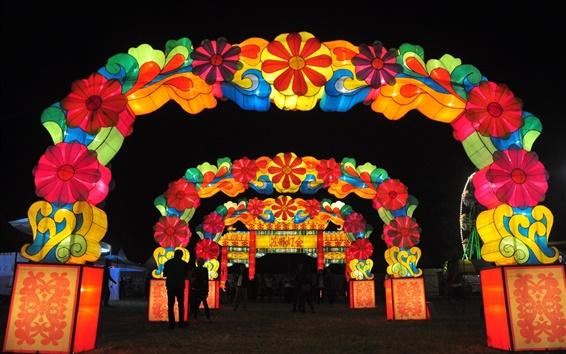 Обои Фестиваль фонарей в Сучжоу, красивый Lampion