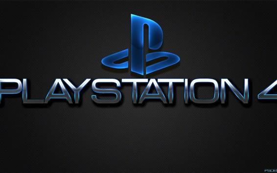 Papéis de Parede Playstation 4 logotipo, Sony