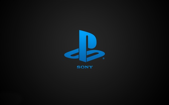 Wallpaper Sony Playstation blue logo