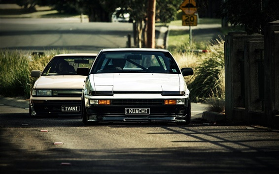 Wallpaper Toyota AE86 cars front view