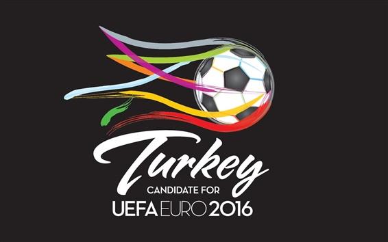Wallpaper UEFA EURO 2016, Turkey, football, colorful