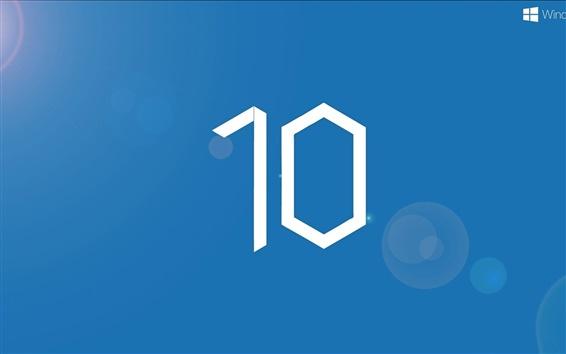 배경 화면 윈도우 10 체제 로고, 파란색 배경