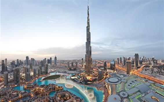 Papéis de Parede o edifício mais alto do mundo, o Burj Khalifa, Dubai