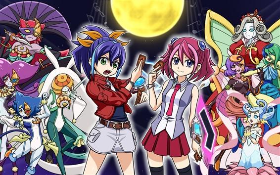 Wallpaper Yu-Gi-Oh, game girls