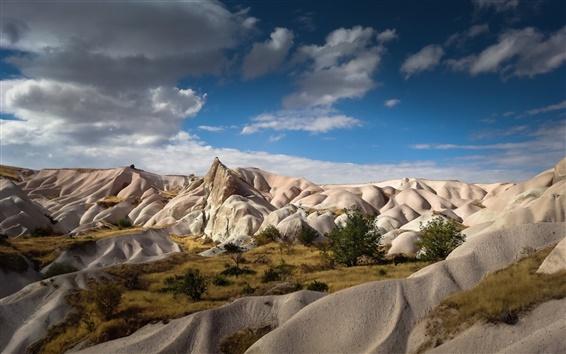 Wallpaper Zemi Valley, Cappadocia, Turkey, blue sky, beautiful landscape