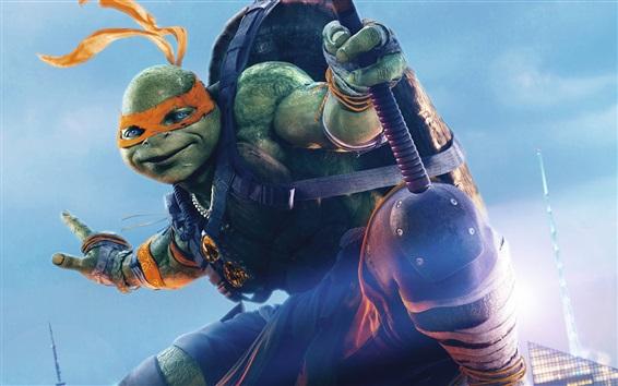 Fondos de pantalla 2016 película, Tortugas Ninja 2