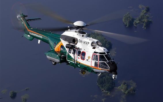 Wallpaper Airbus helicopter flight