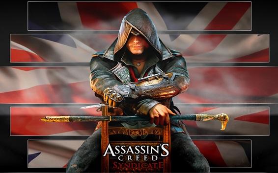 Fond d'écran Assassin 's Creed: Syndicate, tueur assis sur une chaise