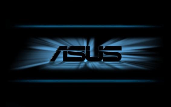 Обои Asus логотип, черный фон