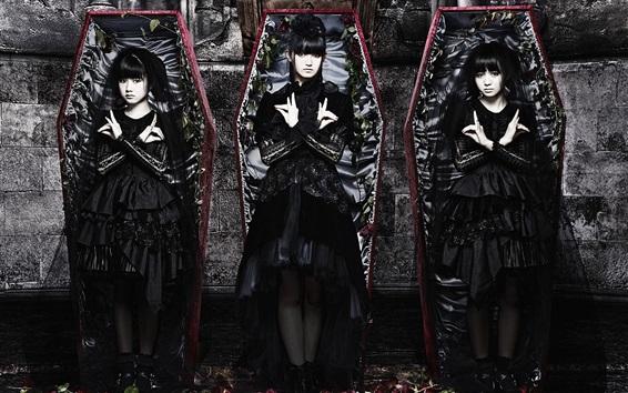 Wallpaper Babymetal, Japanese girls group 02