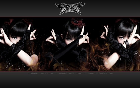 Wallpaper Babymetal, Japanese girls group 05