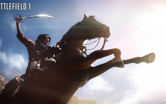 Обои Battlefield 1, лошадь прыгать