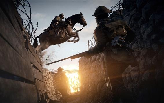 Wallpaper Battlefield 1, riding horse