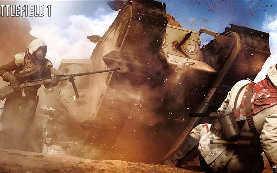 Fondos de pantalla 1 campo de batalla, el tanque