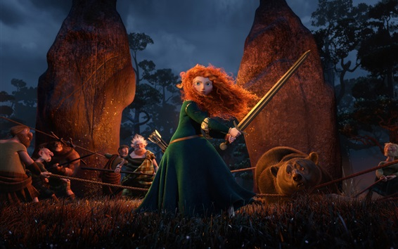 Wallpaper Brave, Disney movie, Merida