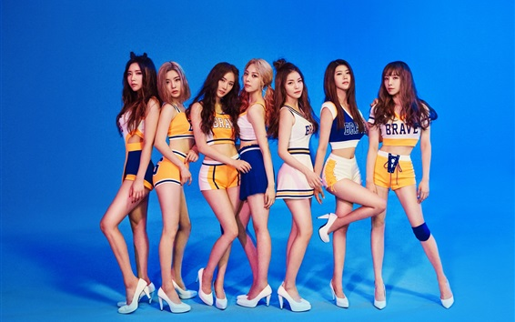 Wallpaper Brave Girls, Korean music group 05