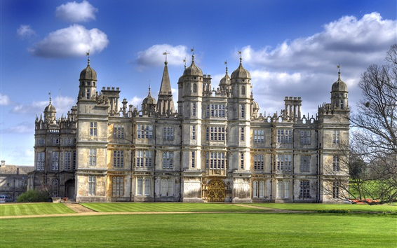 Wallpaper Burghley House, travel to England