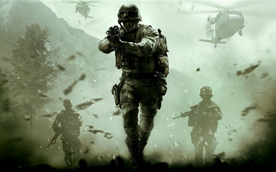 Wallpaper Call of Duty: Modern Warfare, Remastered