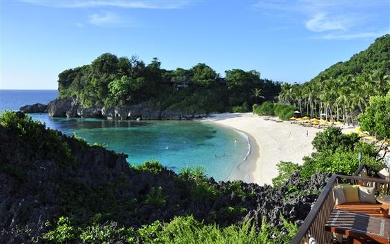 Обои Себу, Боракай, Филиппины, пляж, море, тропический