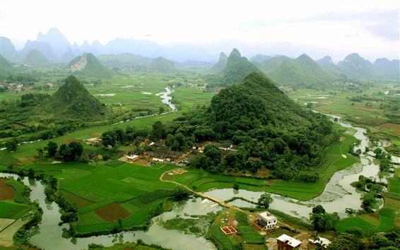 Wallpaper China tourist attractions, Guilin, Yangshuo views