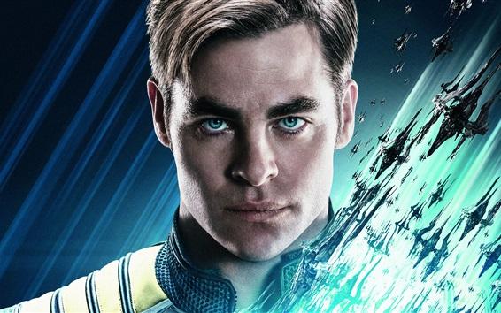 Wallpaper Chris Pine as Kirk, Star Trek Beyond