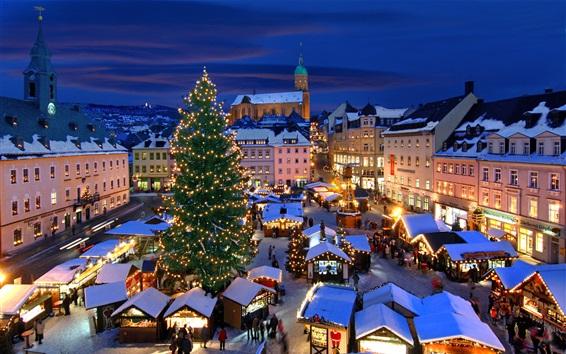 Papéis de Parede Mercado de Natal, Annaberg-Buchholz, Alemanha