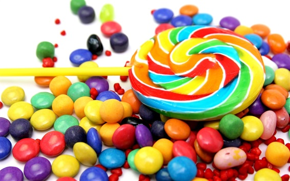 Wallpaper Colorful candy, sweet food
