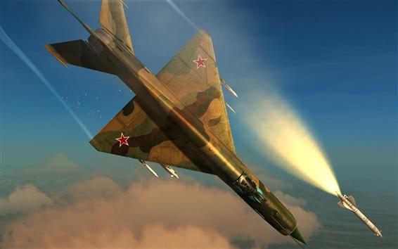 Wallpaper DCS World, flight simulator, MiG-21 multipurpose fighter