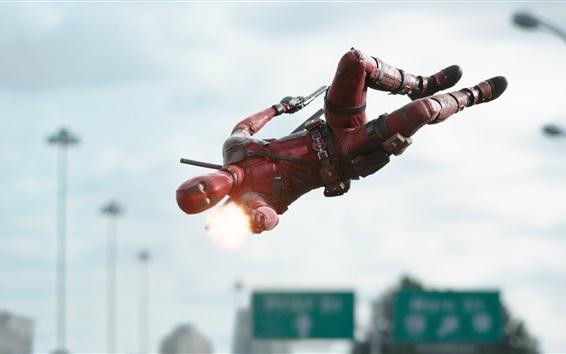 Fondos de pantalla Deadpool película de 2016 con pantalla grande