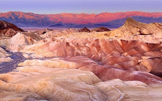 Wallpaper Death Valley, Furnace Creek, red rocks, California, USA