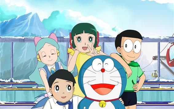 Wallpaper Doraemon and his friends