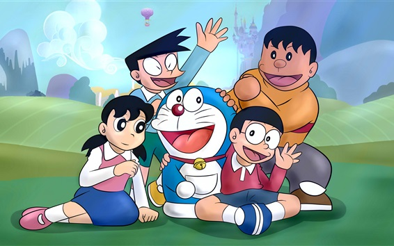 Wallpaper Doraemon, classic anime