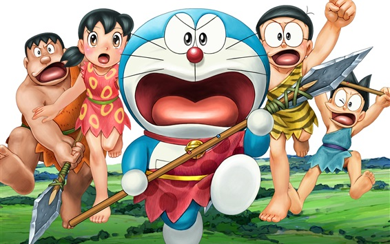 Wallpaper Doraemon, primitive