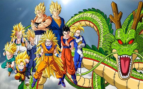 Обои Dragon Ball Z, аниме широкоформатный