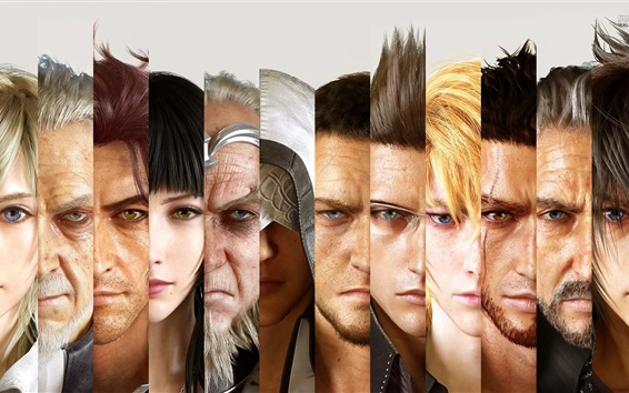 Wallpaper Final Fantasy XV, game characters