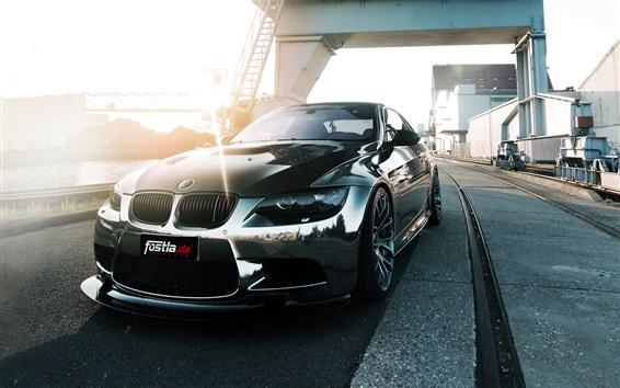 Papéis de Parede Fostla BMW M3 E92 Opinião dianteira do carro