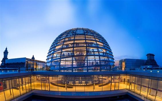 Wallpaper German Reichstag Dome, Berlin