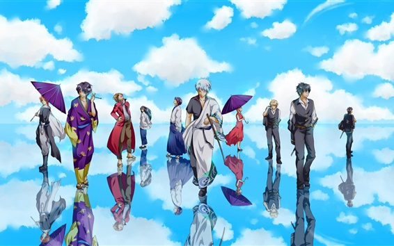 Wallpaper Gintama, Japanese anime