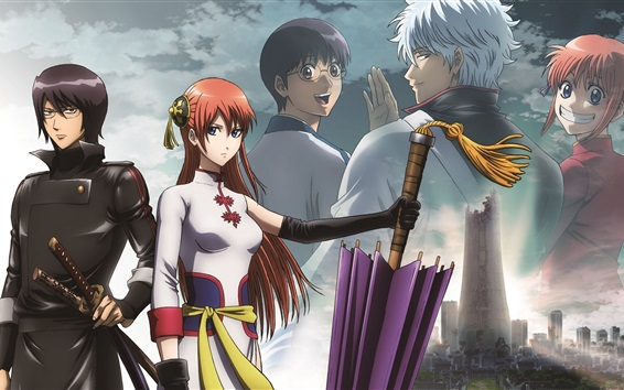 Fond d'écran Gintama, anime HD