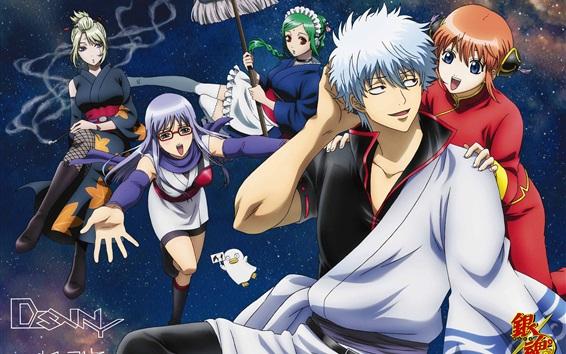 Обои Gintama, мультфильм аниме