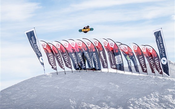 Papéis de Parede Glacier 3000, jogo de Snowboard, Suíça