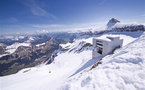 Fond d'écran Glacier 3000, Suisse, la neige, les montagnes